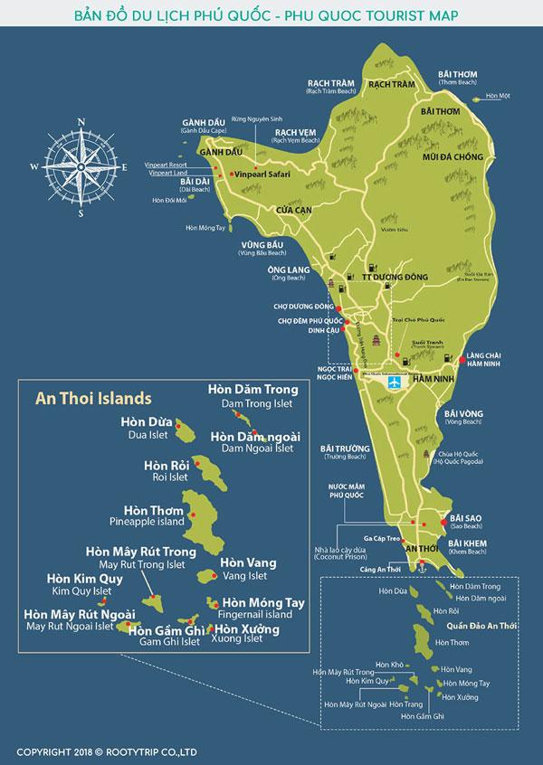 bản đồ du lịch phú quốc